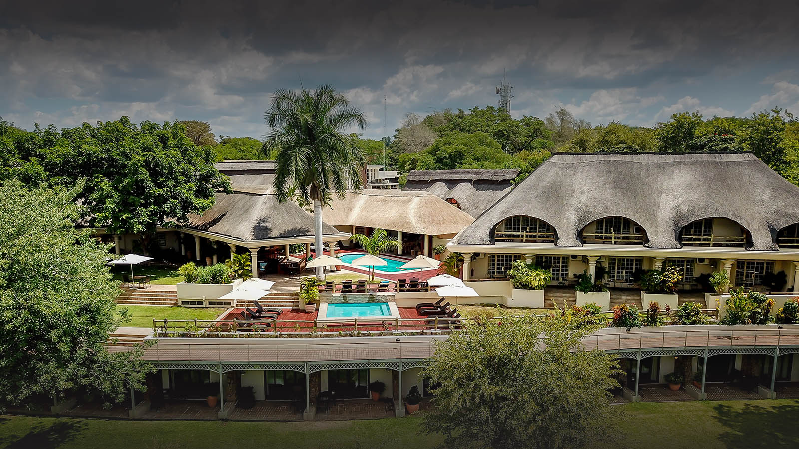 ilala river lodge hotel-victoria-falls-zimbabwe-lodges-accommodation-aerial-photograph