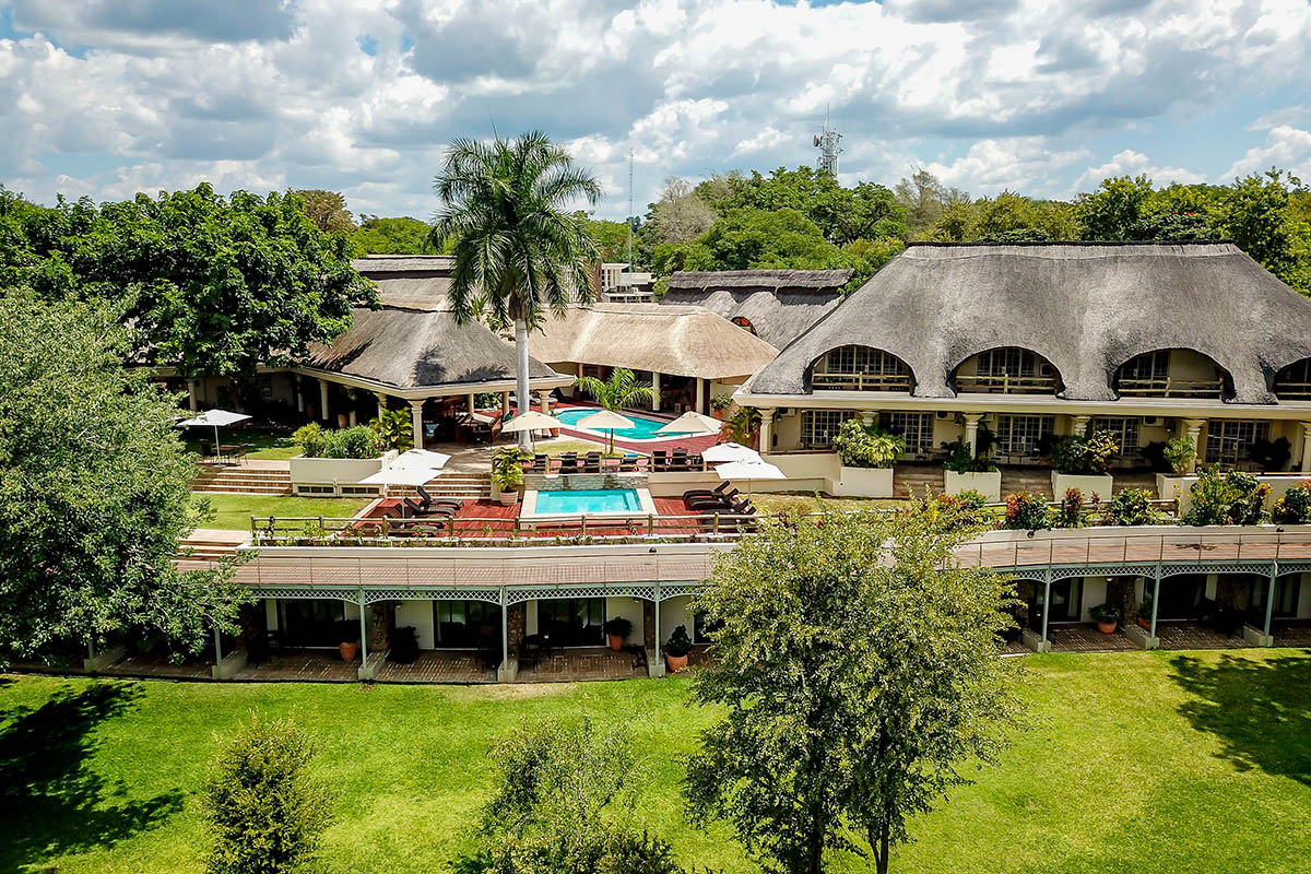 ilala river lodge victoria-falls-zambia-in-style-zimbabwe-lodges-accommodation-aerial-photo