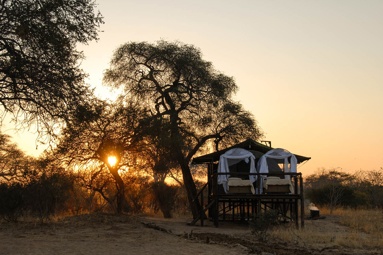 jozibanini camp hwange-national-park-zimbabwe-lodges-rustic-safari-sunset