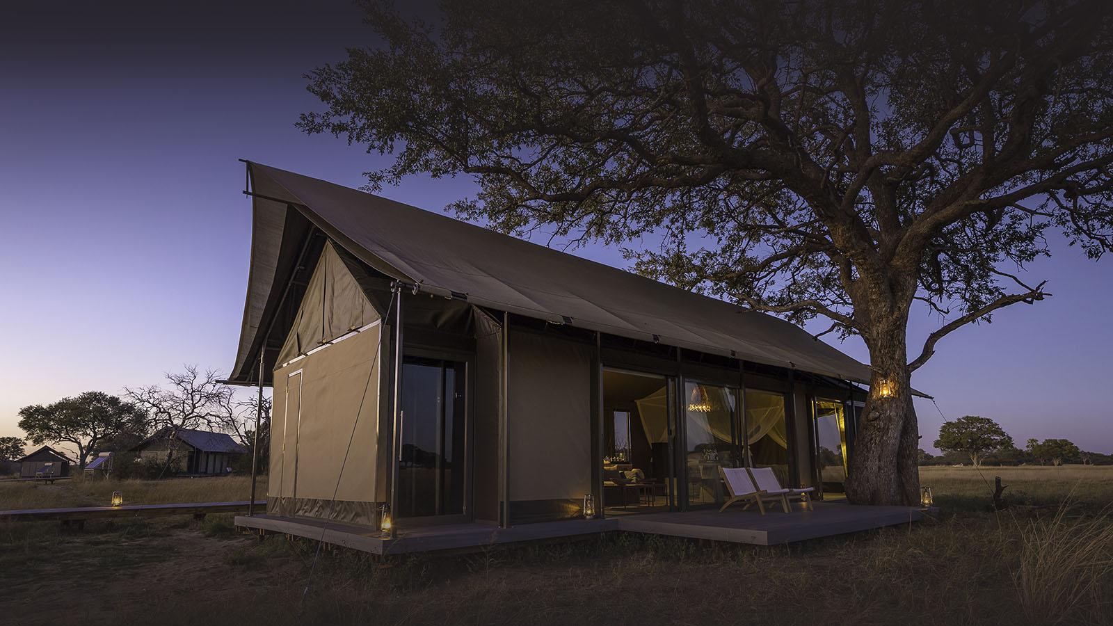 linkwasha camp hwange-national-park-zimbabwe-lodges-luxury-wilderness-camp-evening