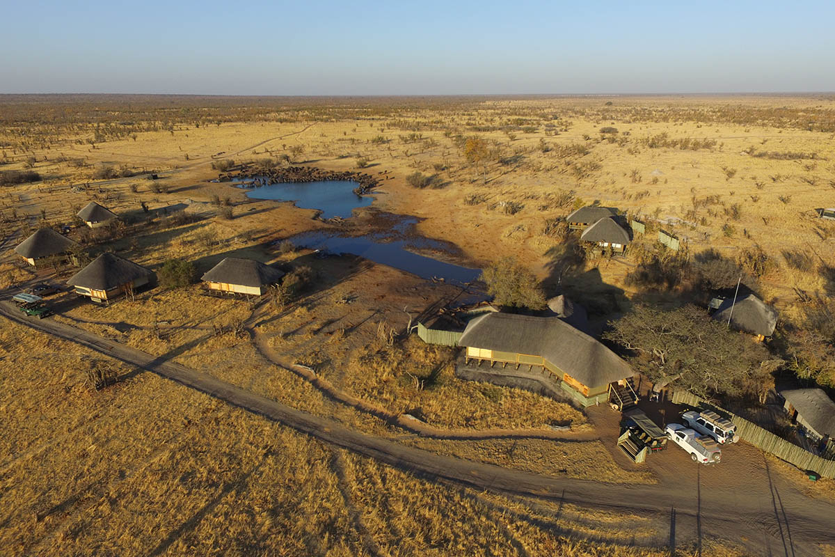 nehimba lodge imvelo-hwange-national-park-lodges-zimbabwe-accommodation-aerial-photograph