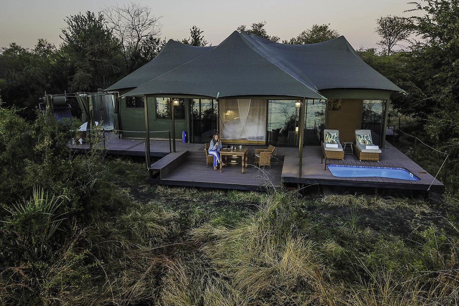 old drift lodge victoria-falls-zimbabwe-luxurious-accommodation-aerial-view-drone-photograph