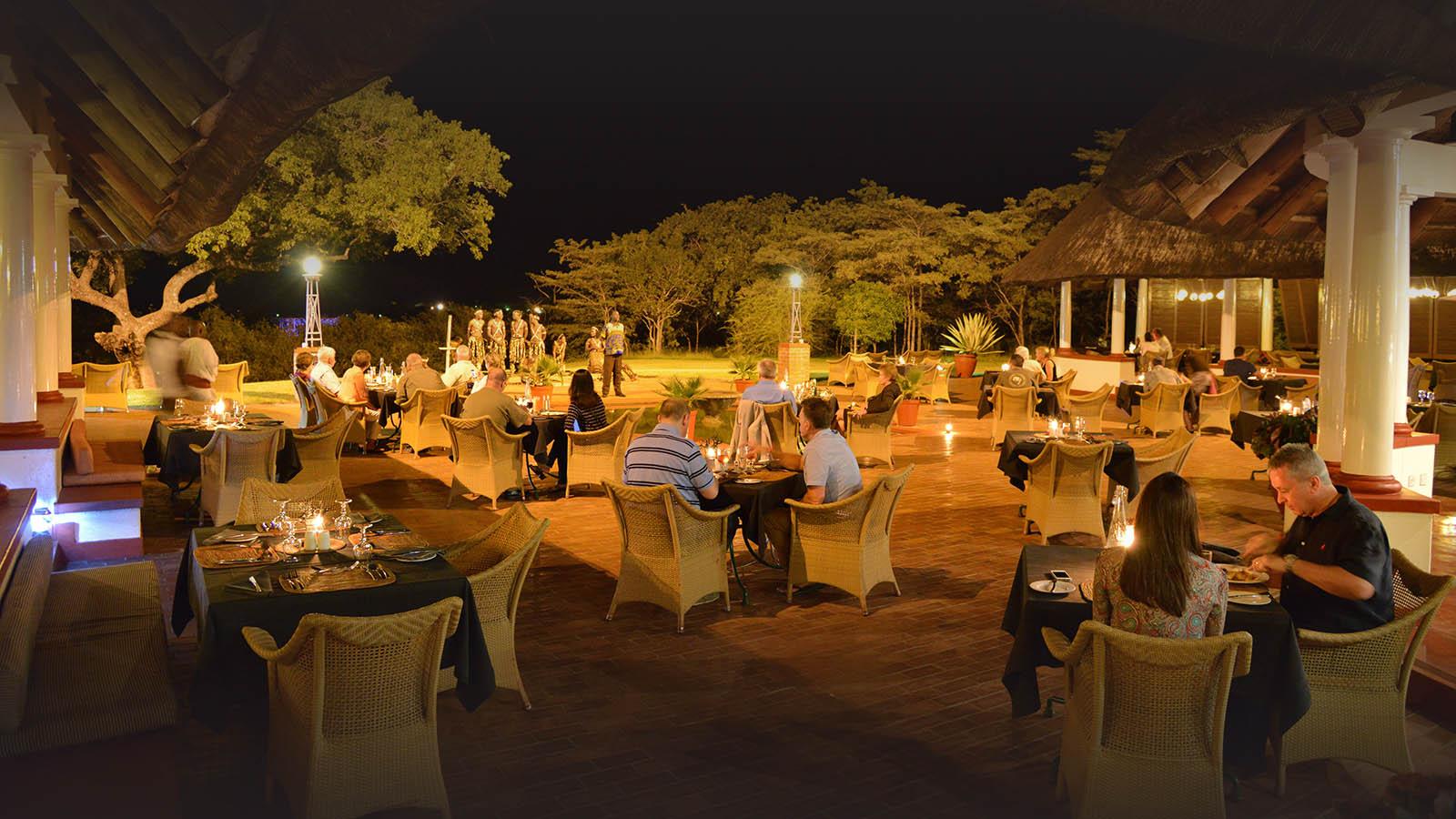 victoria falls hotel zimbabwe-accommodation-elegant-luxury-hotel-dinner
