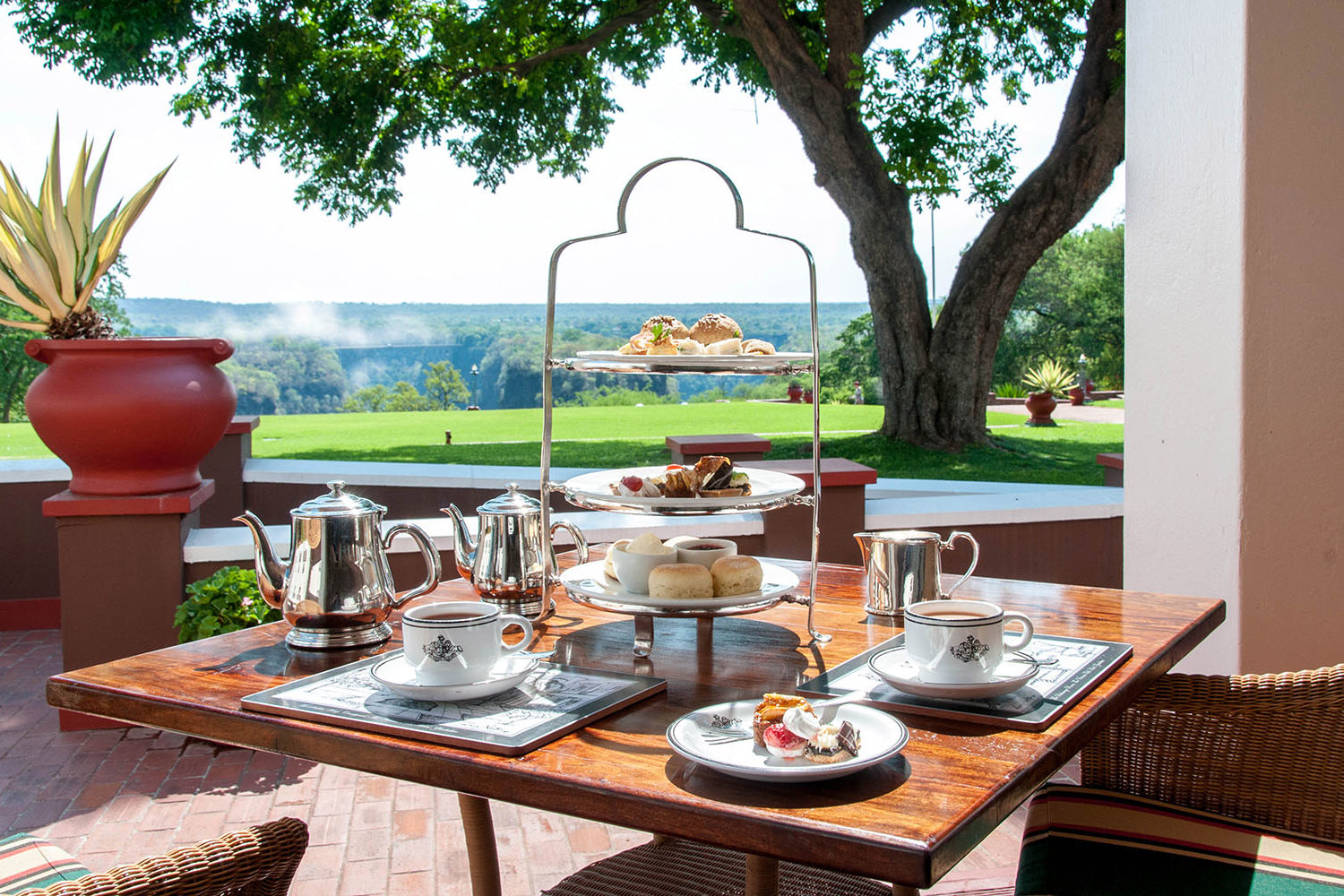 victoria falls hotel zimbabwe-accommodation-elegant-luxury-hotel-zambia-in-style-restaurants-afternoon-tea