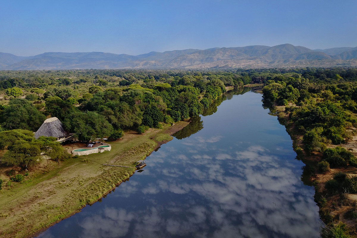 chongwe house zambia-in-style-zambia-lodges-lower-zambezi-aerial-view