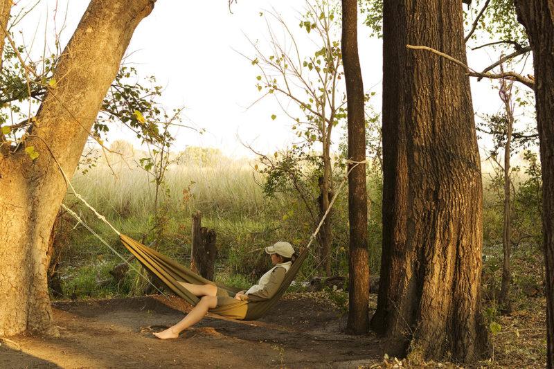 footsteps camp okavango-delta-botswana-lodges-zambia-in-style-walking-safaris-hammock