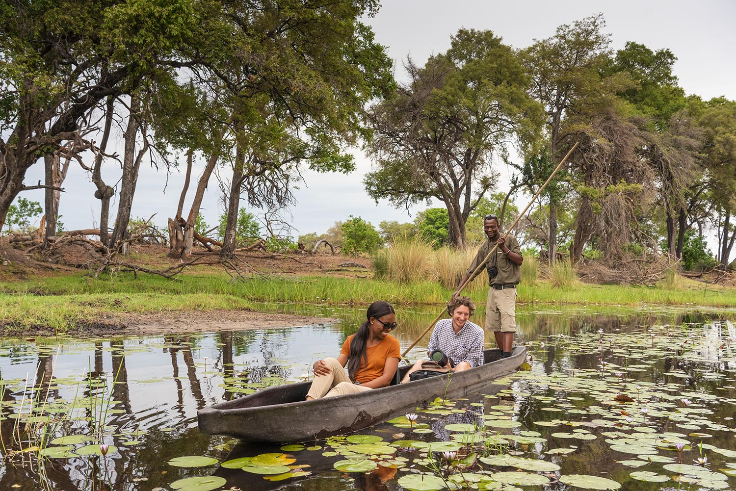 great plains duba explorers camp okavango-delta-botswana-lodges-zambia-in-style-mokoro-boat-safari