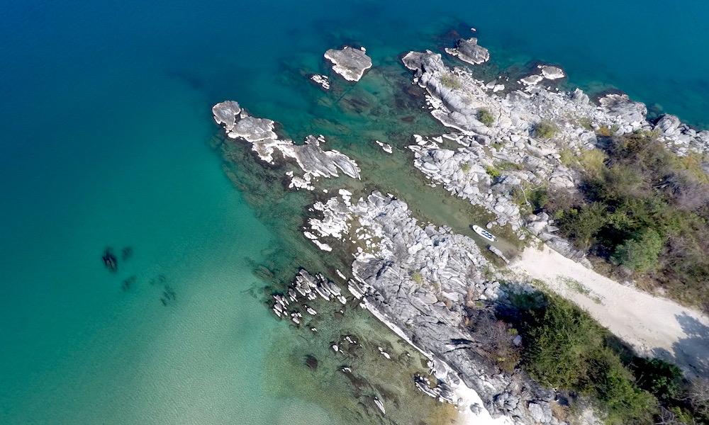 nkwichi lodge by drone