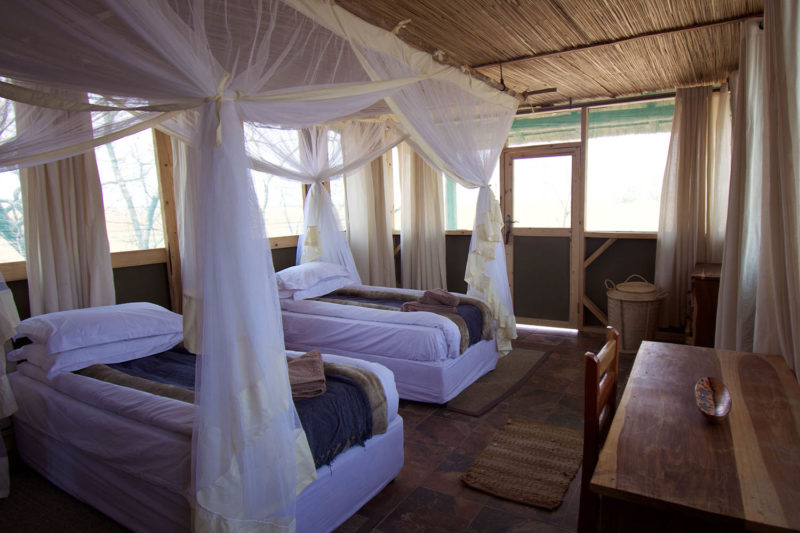 kasonso busanga camp kafue-lodges-zambia-in-style-busanga-plain-kafue-national-park-rustic-luxury-camp-chalet-interior