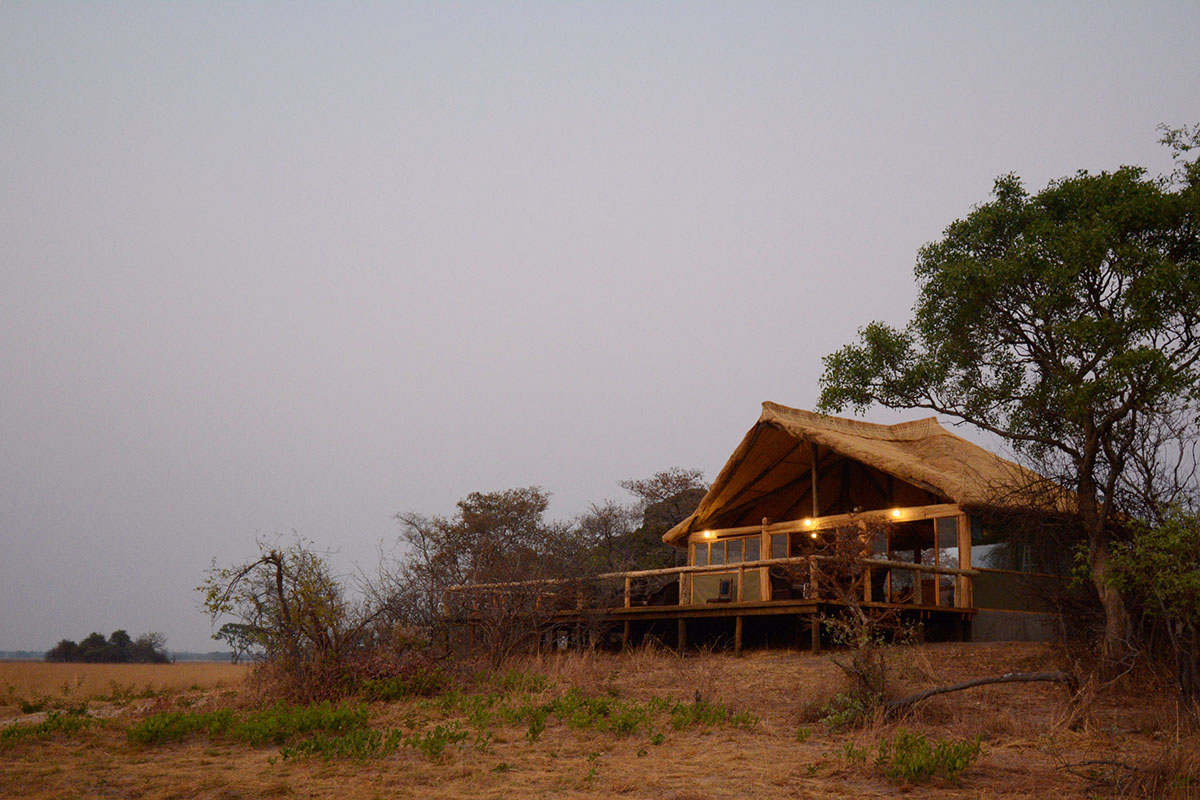 kasonso busanga camp kafue-lodges-zambia-in-style-busanga-plain-kafue-national-park-unique-location-lodge-exterior