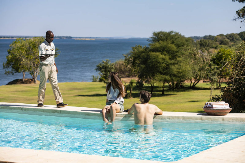 kayila house lodges-zambia-in-style-lower-zambezi-national-park-unique-luxurious-intimate-location-poolside-drinks