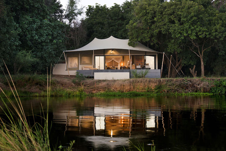 sausage tree camp, lower zambezi national park