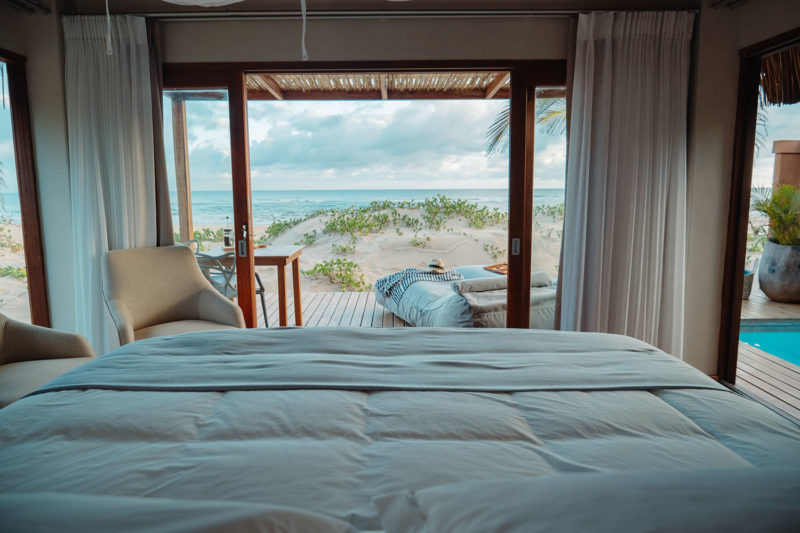 eclectic beach retreat tofo-mozambique-lodges-zambia-in-style-suites-bed