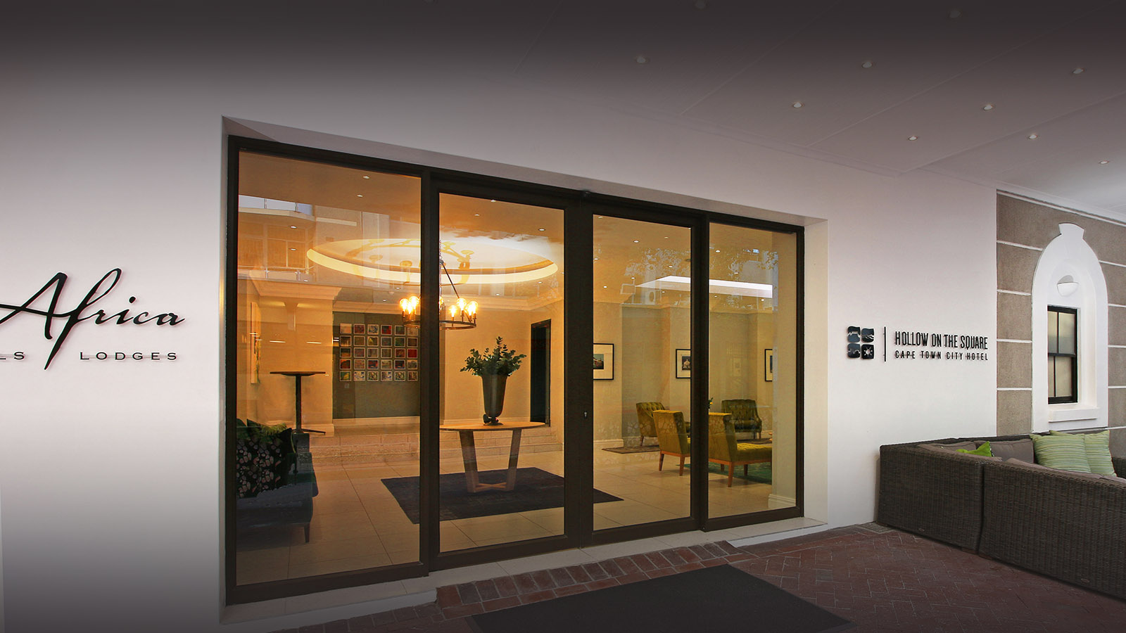 hollow on the square hotel-cape-town-lodges-zambia-in-style-south-africa-family-friendly-stylish-modern-entrance