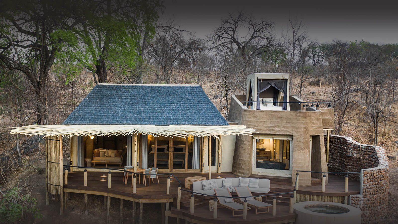 puku ridge lodge-south-luangwa-national-park-lodges-zambia-in-style-luxury-camp-luangwa-valley-front-view