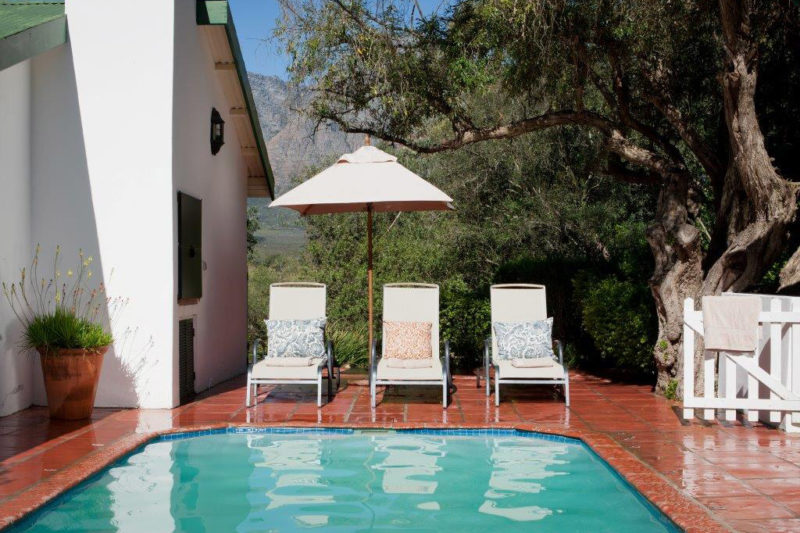 bartholomeus klip farmhouse winelands-lodges-south-africa-accommodation-zambia-in-style-wild-olive-house-pool-area