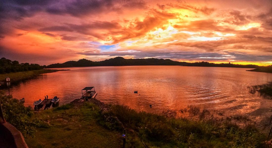 sunset cahora bassa